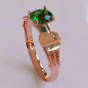 yoshi engagement ring rose gold 1