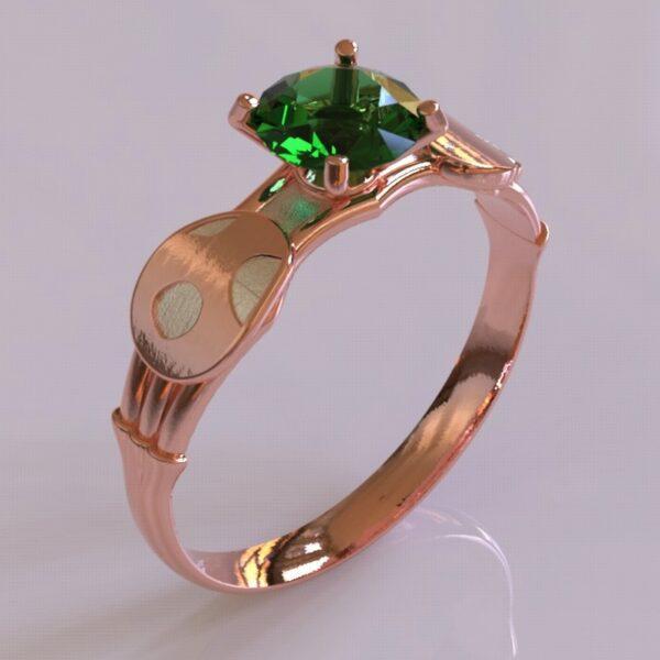 yoshi engagement ring rose gold 2