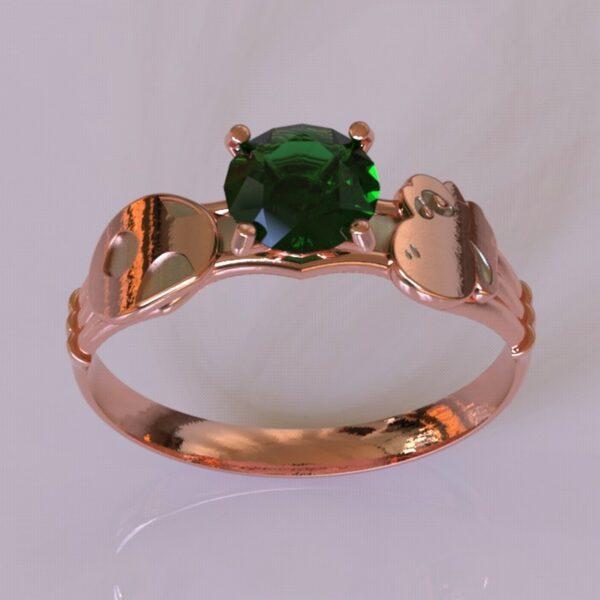 yoshi engagement ring rose gold 3
