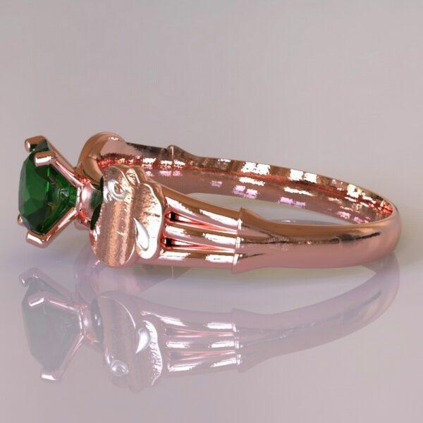 yoshi engagement ring rose gold 4