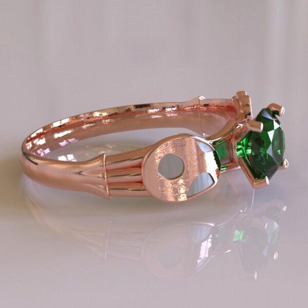 yoshi engagement ring rose gold 5