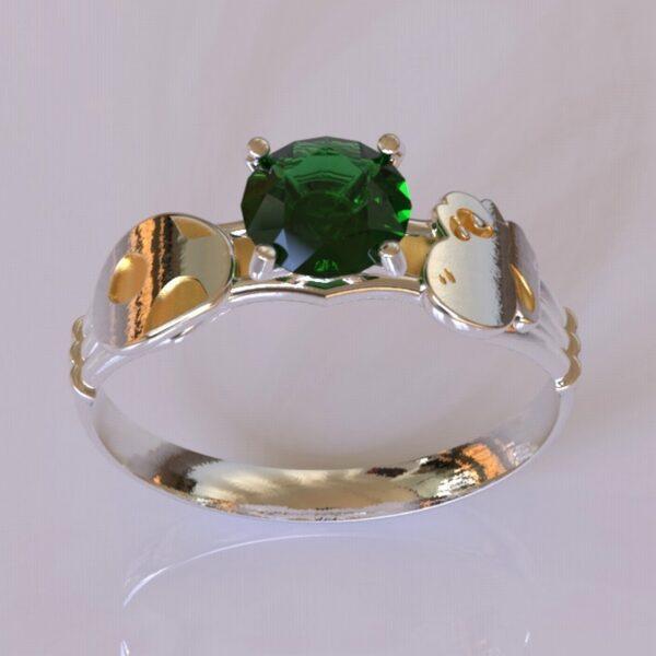 yoshi engagement ring white gold 3